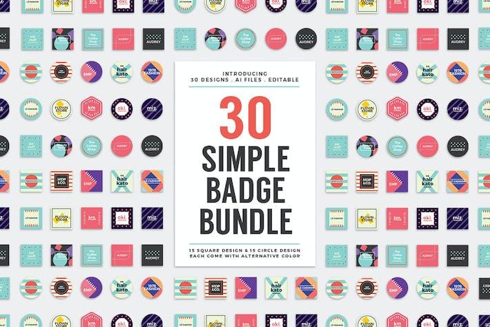 30 einfache Logo Abzeichen Bundle