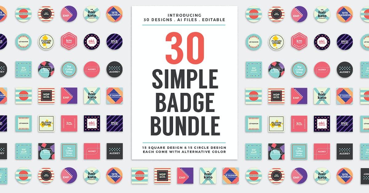 Download 30 Simple Logo Badge Bundle by dannyaldana