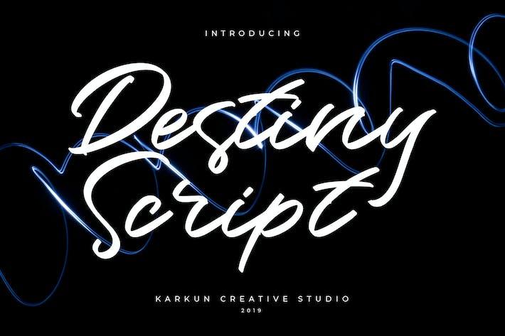 Thumbnail for Destiny Script Font