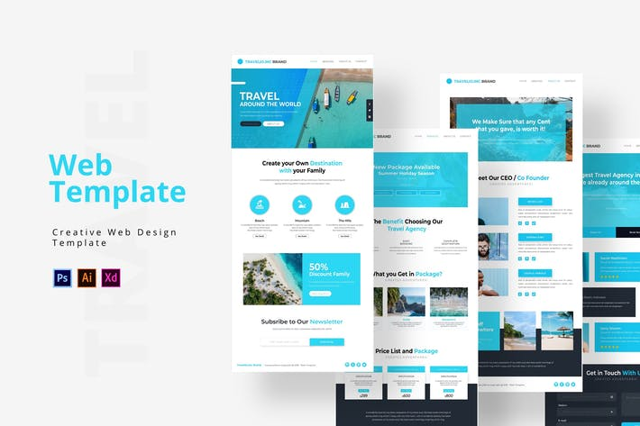 Thumbnail for Travelio Web Template
