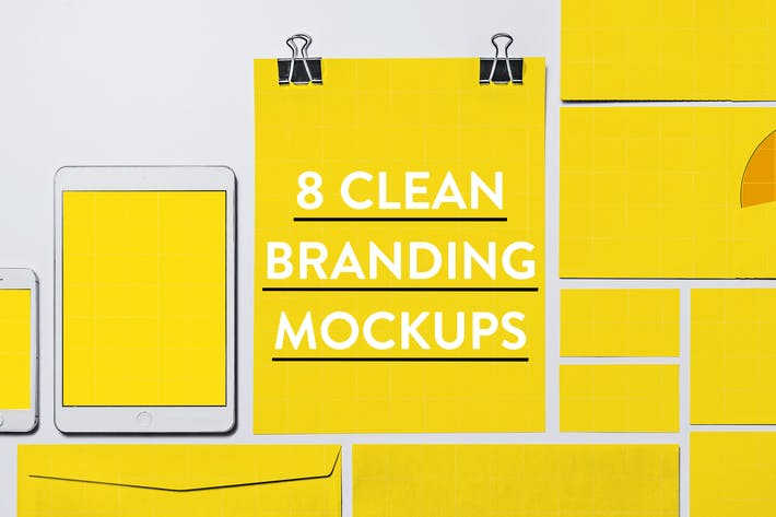 Thumbnail for 8 Clean Identity & Branding Mockups