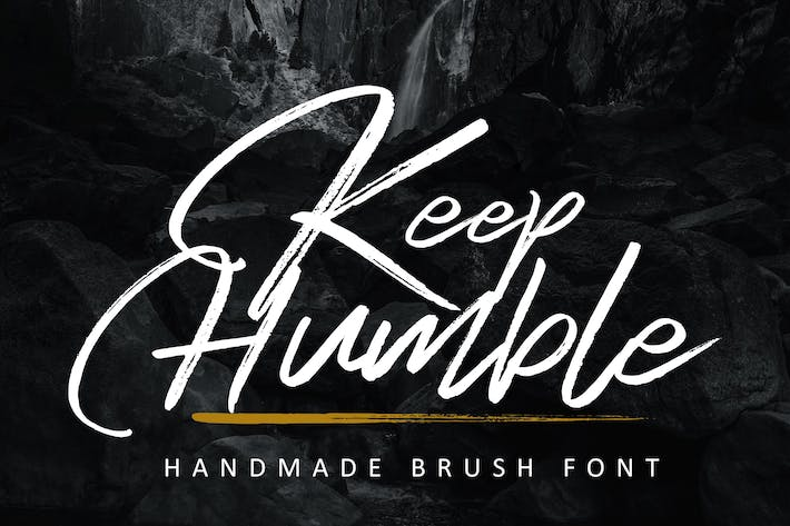Thumbnail for Keep Humble Font