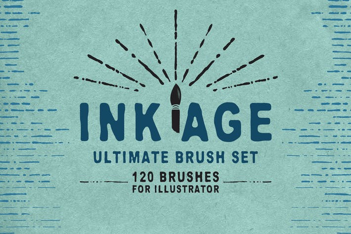Thumbnail for Ink Age Brushes for Adobe Illustrator