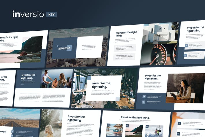 Thumbnail for Inversio - Corporate Theme Keynote Template