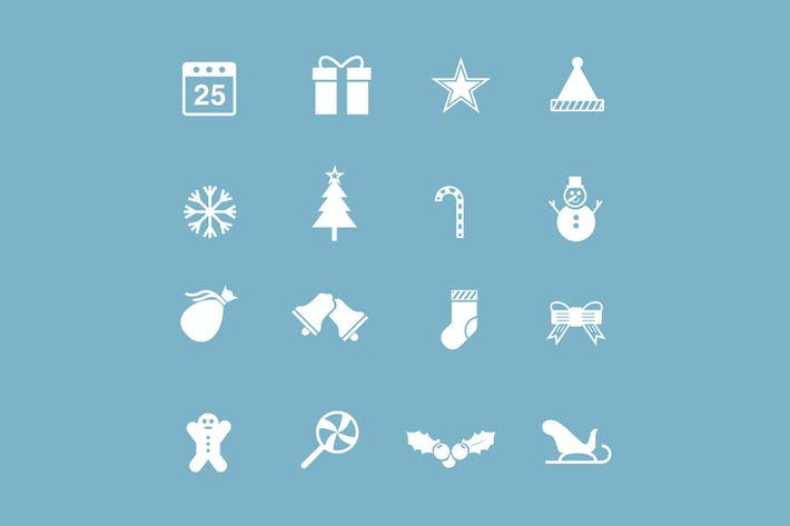 Thumbnail for 16 Festive Christmas Icons