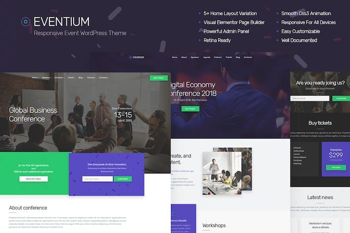 Thumbnail for Eventium - Responsive Event WordPress Theme