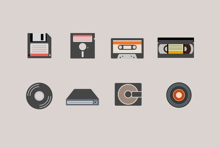 Thumbnail for 9 Vintage Media Icons