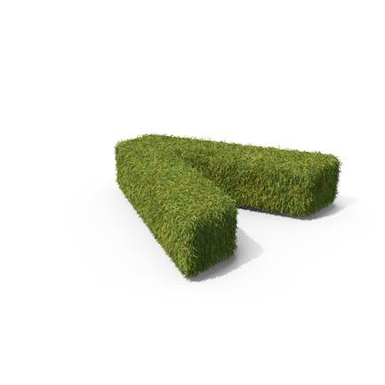 Grass Angle Bracket Symbol on Ground