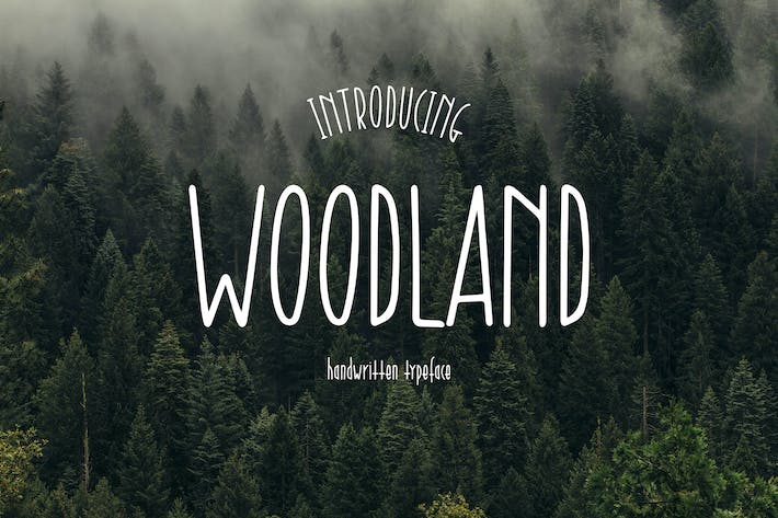 Thumbnail for Woodland - Handwritten Typeface