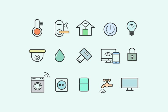 Thumbnail for 15 Smart Home Icons
