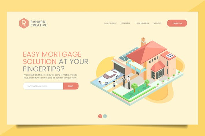 Thumbnail for Mortgage Solution Web Header PSD Template Vol. 01