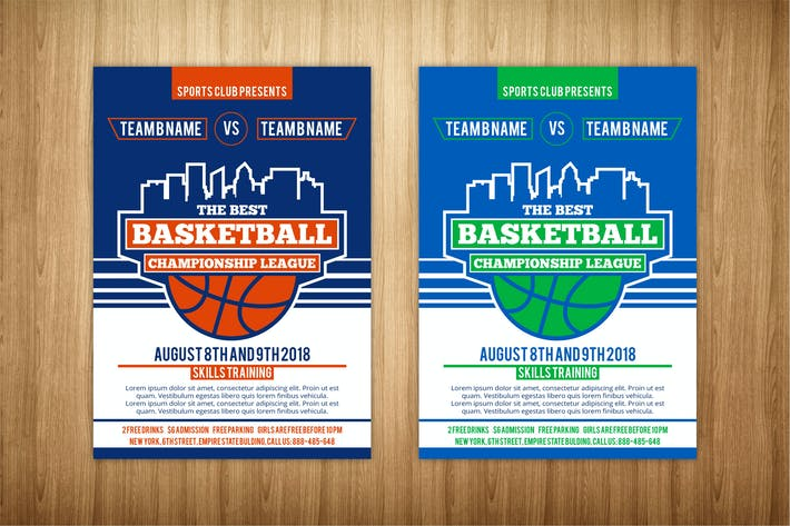 Thumbnail for basketball flyer template