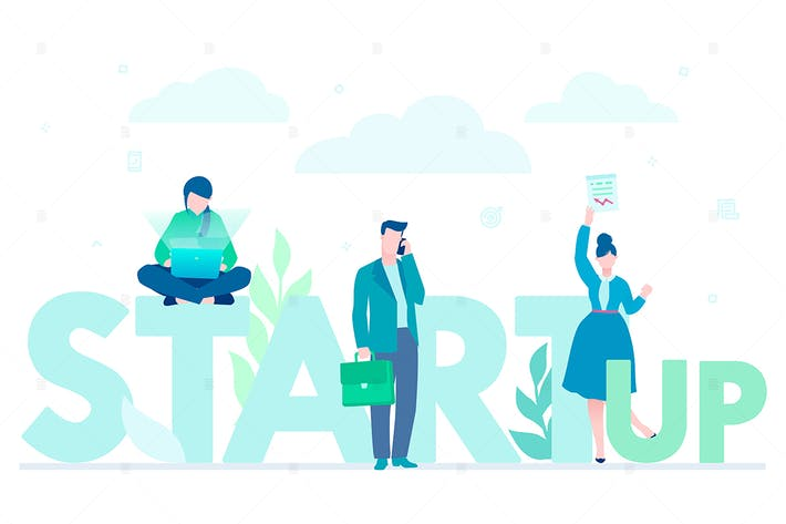 Thumbnail for Startup company - flat design style illustration