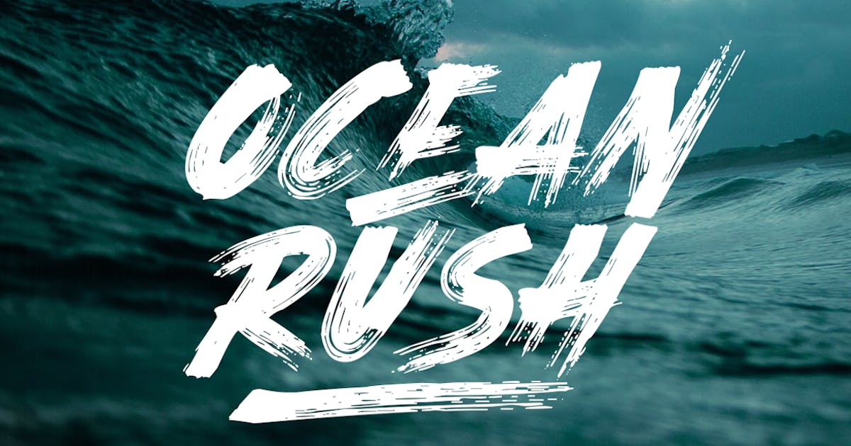 Download Ocean Rush - Brush Font by TheBrandedQuotes