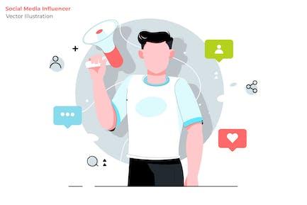 Social Influencer - Vector Illustration