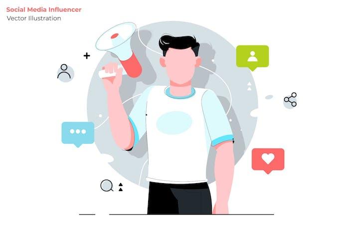 Thumbnail for Social Influencer - Vector Illustration
