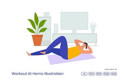 Workout At Home Illustration