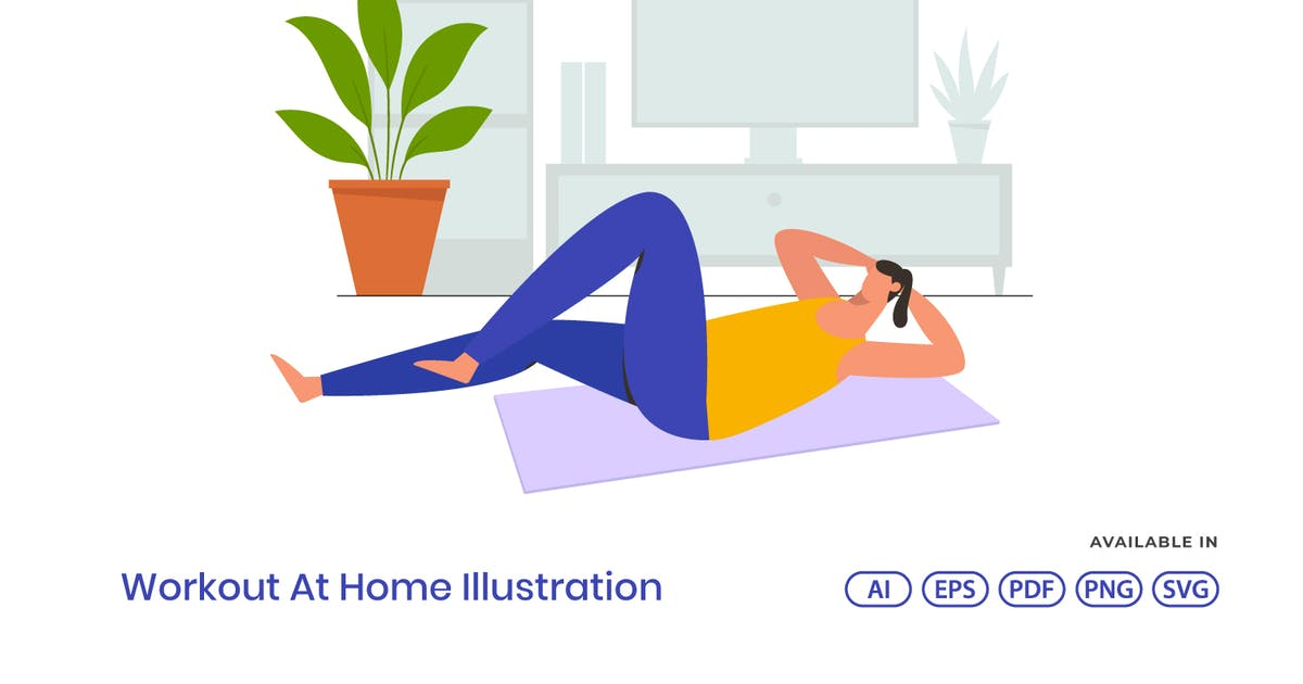 Download Workout At Home Illustration by visuelcolonie