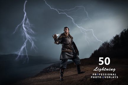 50 superposiciones de fotos Lightning