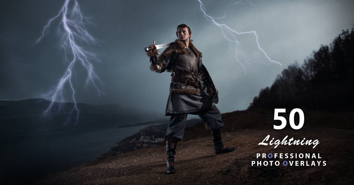 Download 50 Lightning Photo Overlays by Eldamar_Studio