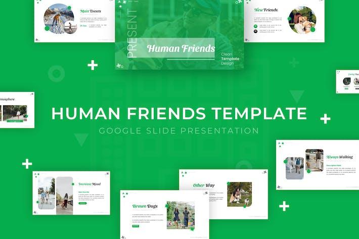 Human Friends - Google Slide Template