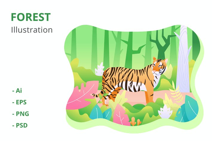 Thumbnail for Forest Illustration