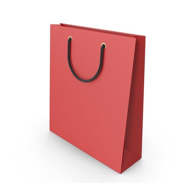 Красная упаковка сумка с черными ручками