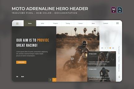 Moto Adrenaline | Hero Header