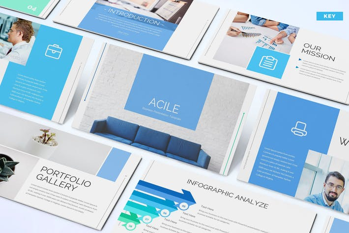 Thumbnail for Acile - Business Keynote Template