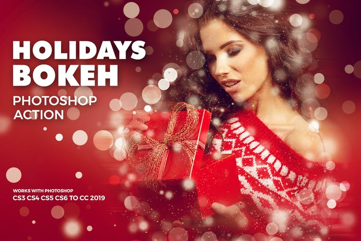 Thumbnail for Holidays Bokeh Photoshop Action