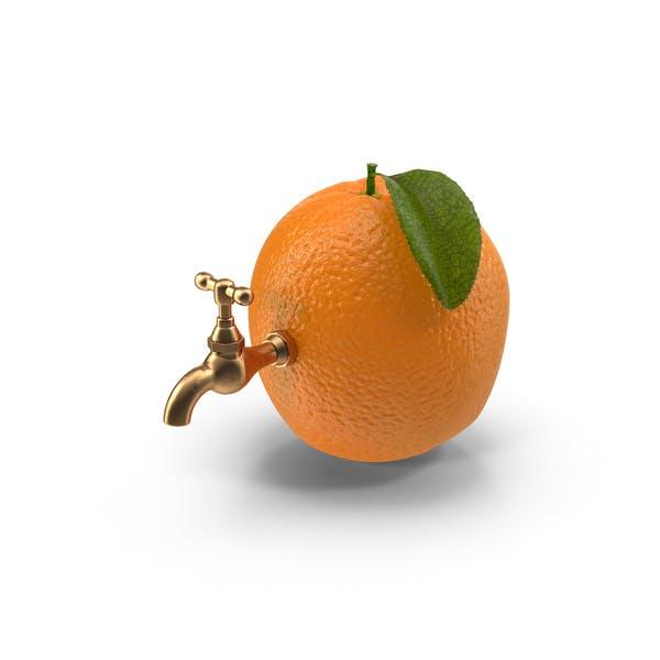 Orange Wasserhahn