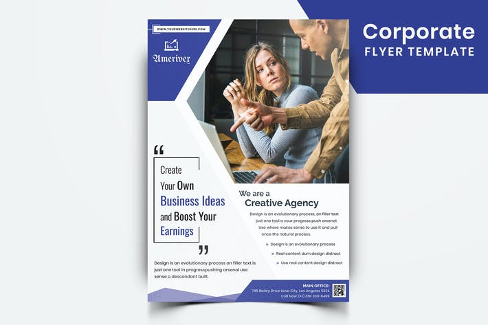 Thumbnail for Corporate Flyer Template-07