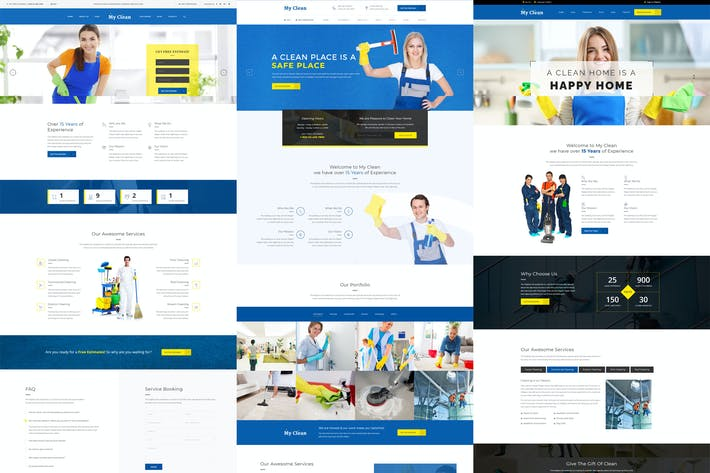 Thumbnail for MyClean - Cleaning Company Responsive Template