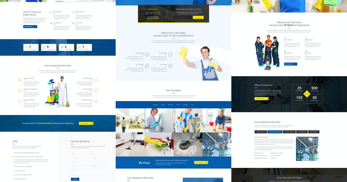 Download MyClean - Cleaning Company Responsive Template by themewar