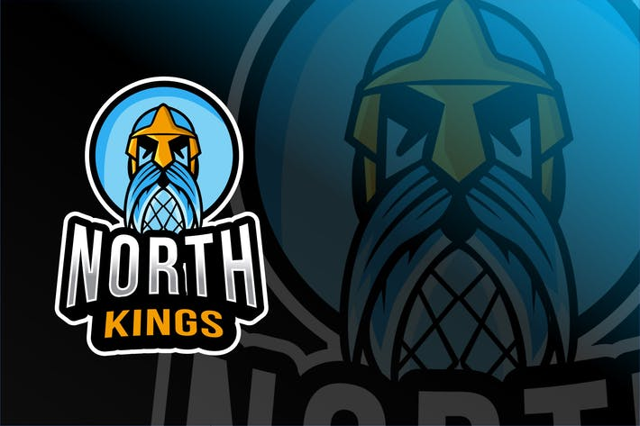 Thumbnail for North King Esport Logo Template