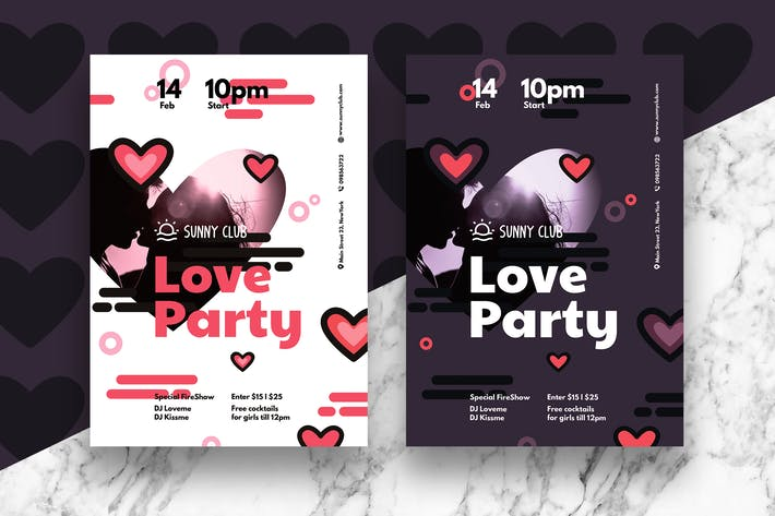 Thumbnail for Valentine Party Flyer/Poster #3