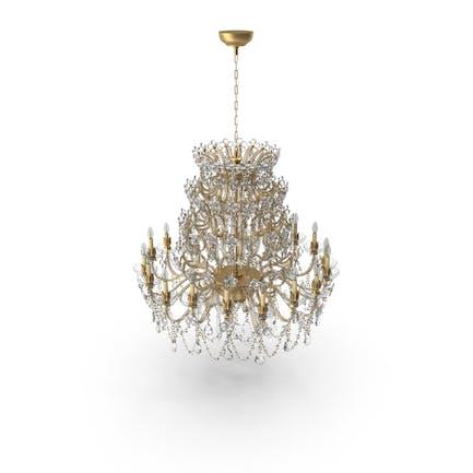 Kristall-Goldener Kronleuchter