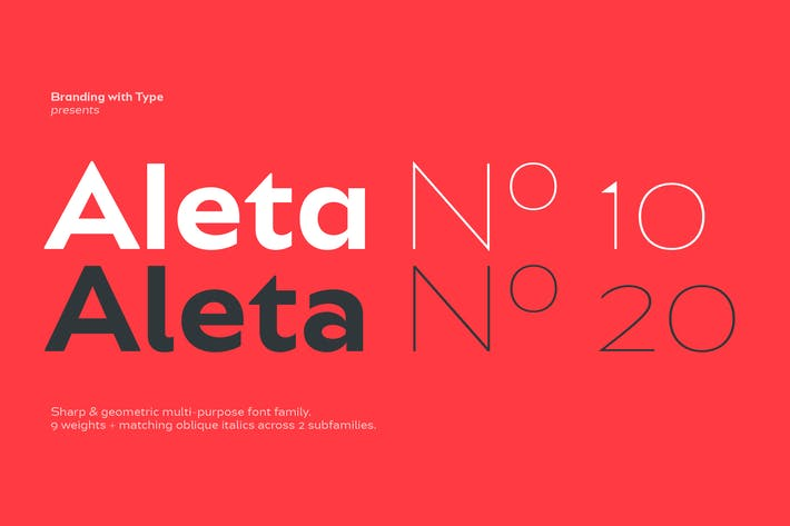 Thumbnail for Bw Aleta font family