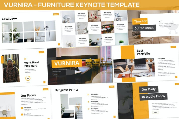 Thumbnail for Vurnira - Furniture Keynote Template