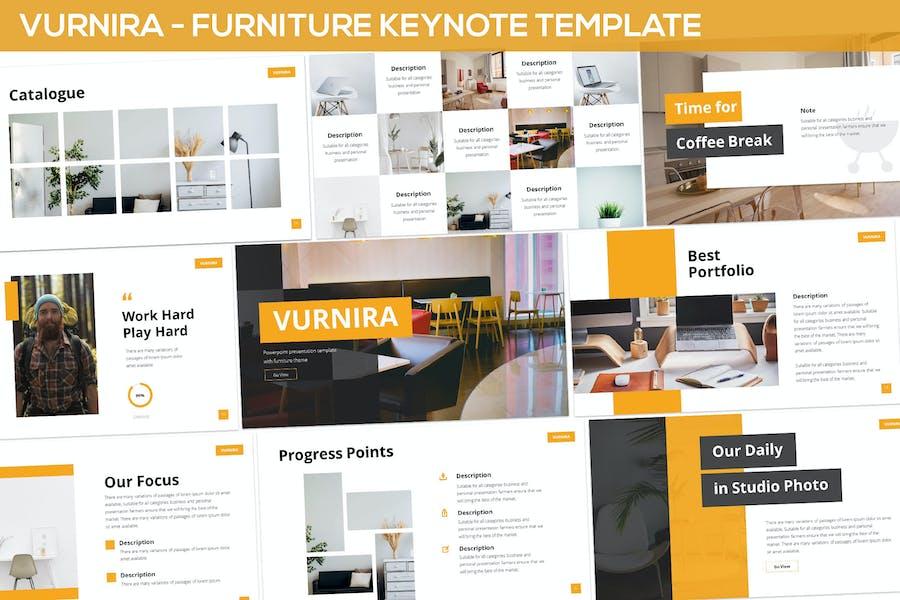 Vurnira - Furniture Keynote Template