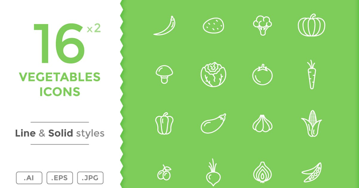 Download Vegetables Icons by filborg