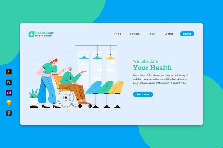 Thumbnail for Medical Service - Landing Page