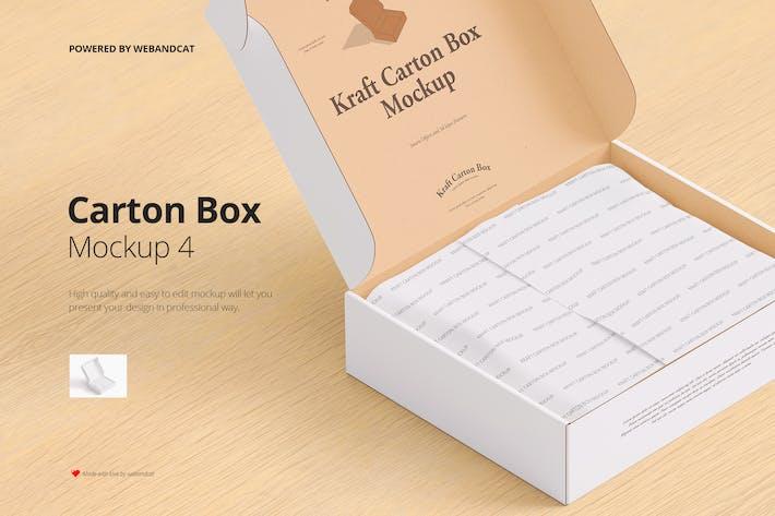 Geöffneter Mailing-Karton-Modell