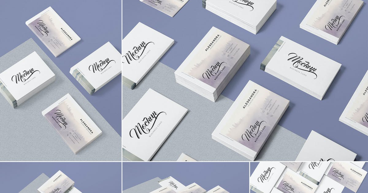 Download 5 Business Card Mock-Ups by zippypixels
