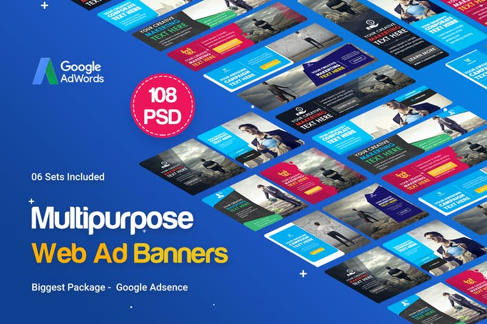 Thumbnail for Multipurpose Banners Ad - 108PSD [ 06 Sets ]