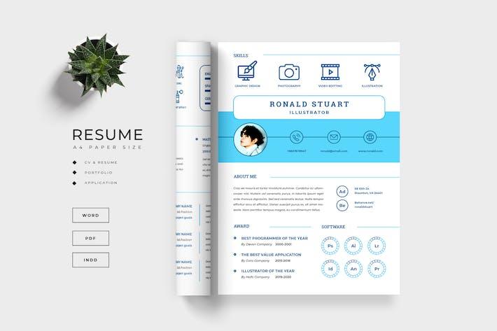 Thumbnail for Resume / CV - Cover Letter Template