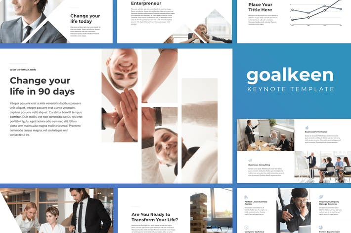 Thumbnail for Goalkeen - Life Coach Keynote Templates