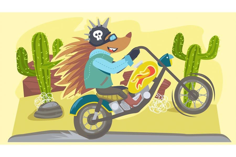 Animal Fable Hedgehog Illustration