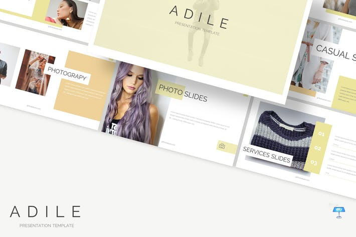 Thumbnail for Adile - Шаблон Keynote