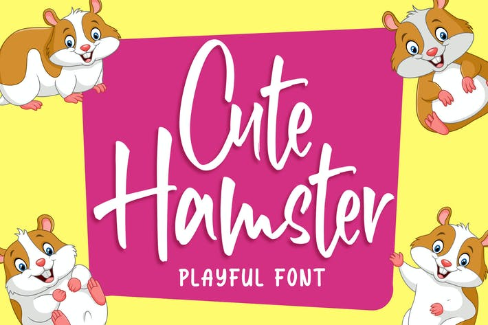 Thumbnail for Cute Hamster - Playful Font